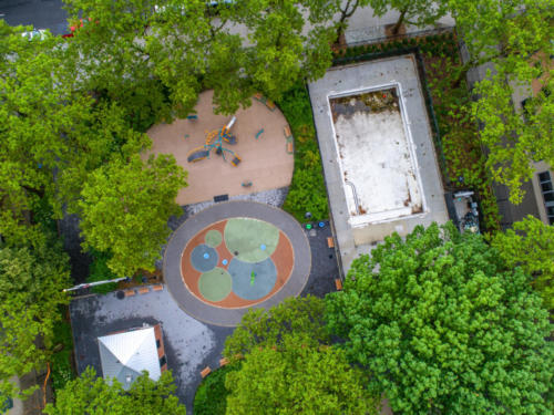 Yaboo Fence - Jesse Owens Playground and Pool. Drone Photography